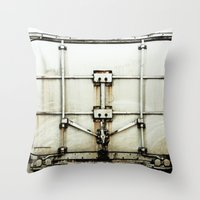 metal Throw Pillows featuring metal by alina vasile