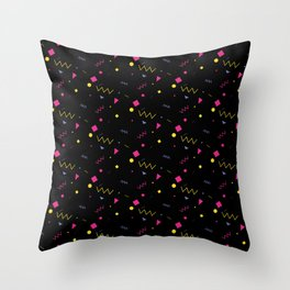 80s are The New Black - Pattern #0 Throw Pillow