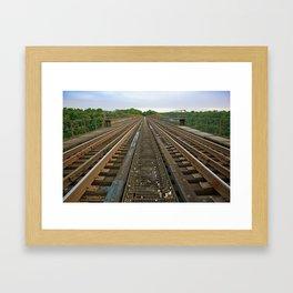 Atop High Bridge Framed Art Print