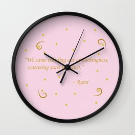 Whirling out of nothingness Wall Clock