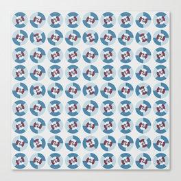 Simple geometric discs pattern blue and azure Canvas Print