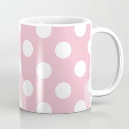 Orchid pink - pink - White Polka Dots - Pois Pattern Coffee Mug