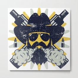 Cloud Chaser - Vaping Bearded Man Metal Print