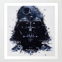darth vader Art Prints featuring Darth Vader by qualitypunk