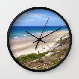 Perranporth Beach Cornwall Wall Clock