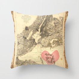 Love NYC Throw Pillow