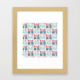 Gnome Love Pattern Framed Art Print