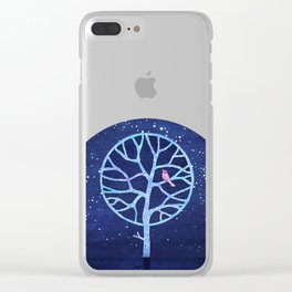 Nightingale tree Clear iPhone Case