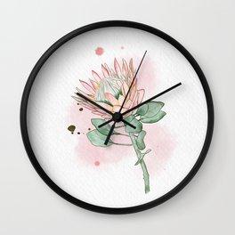 King Protea Wall Clock