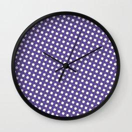 Ultraviolet Grid Wall Clock