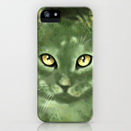 Fern Cat- El gato helecho iPhone Case