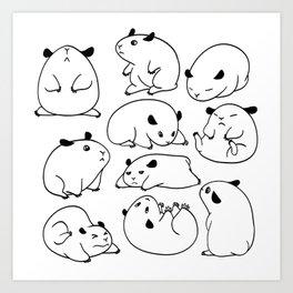 Hamster Blobs Art Print