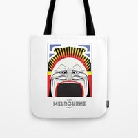 melbourne Tote Bags featuring Melbourne by George Williams