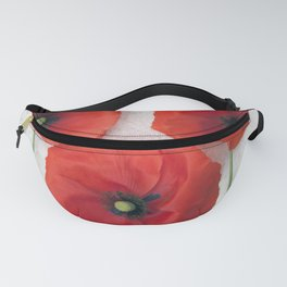 Three red Poppies III Fanny Pack