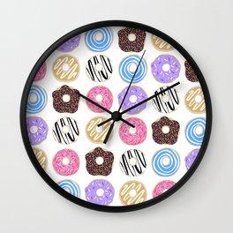 Donuts illustration Wall Clock