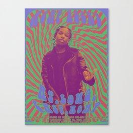 Psychodelic Hip-Hop Poster Series / A$AP Rocky Canvas Print