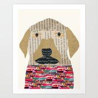 labrador Art Prints featuring the labrador by bri.buckley