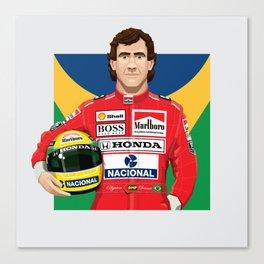 Ayrton Senna's Portrait Canvas Print