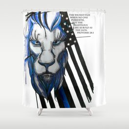 Bold as the Lion Shower Curtain