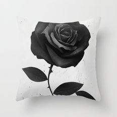 Fabric Rose Throw Pillow