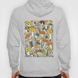 Hand-drawn Mushrooms Hoody