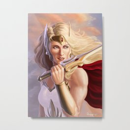 The Princess' Power Metal Print