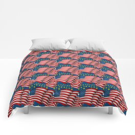 American Flag Pattern Comforters