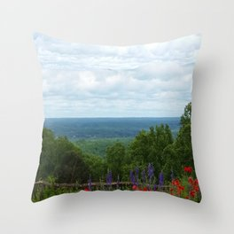 View from Monticello Throw Pillow