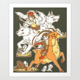 Forest Warriors Art Print
