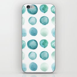 Blue Sea Glass Watercolor JUUL iPhone Skin