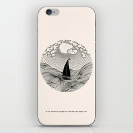 IN THE WAVES OF CHANGE WE FIND OUR TRUE DIRECTION iPhone Skin