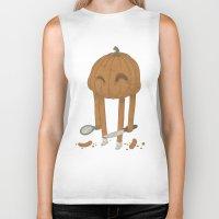 pumpkin Biker Tanks featuring Pumpkin by Gabor Nemethi