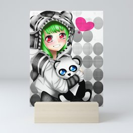 Anime girl Mini Art Print