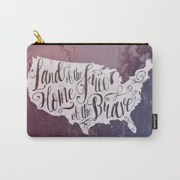 Land of the Free in White Carry-All Pouch