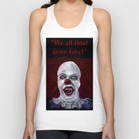 pennywise Tank Tops featuring Pennywise by Eric Dockery