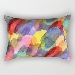 Watercolor brush blots :) Rectangular Pillow