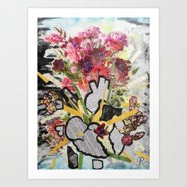 Heart Burst Art Print