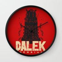dalek Wall Clocks featuring Dalek Unchained by Moysche Designs