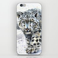 snow leopard iPhone & iPod Skins featuring snow leopard by KOSTART