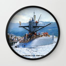 USS HENRY CLAY (SSBN-625) Wall Clock