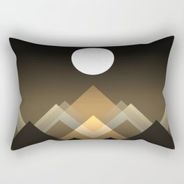 Path between hills Rectangular Pillow