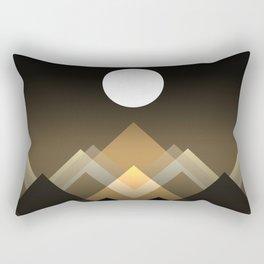 Path between hills Rectangular Pillow