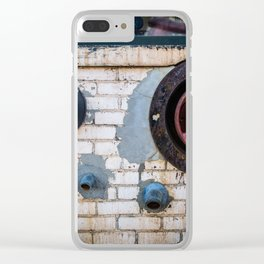 Shapes of Things, Street Photography Brick Firemen Accessories Clear iPhone Case