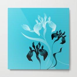 Iris on Azure Metal Print