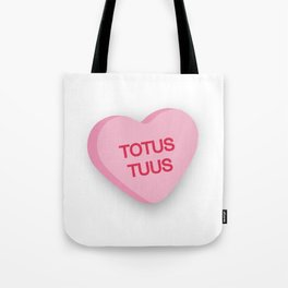 Catholic Conversation Heart Totus Tuus Tote Bag