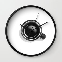 Cup of Coffee (Black and White) Wall Clock