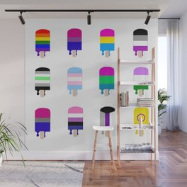 LGBT+ Pride Popsicles Wall Mural