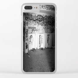 Urban graffiti Miami Abandoned Marina Stadium in Key Biscayne Clear iPhone Case
