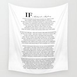 If Poem by Rudyard Kipling Wall Tapestry