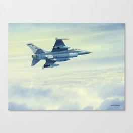 F-16 Fighting Falcon Aircraft Canvas Print